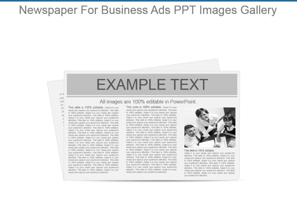 Newspaper For Business Ads Ppt Images Gallery  Powerpoint Templates