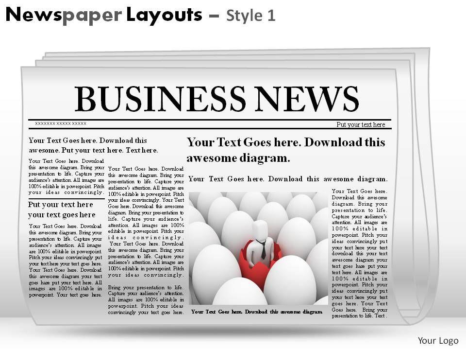 Newspaper Template Download from www.slideteam.net