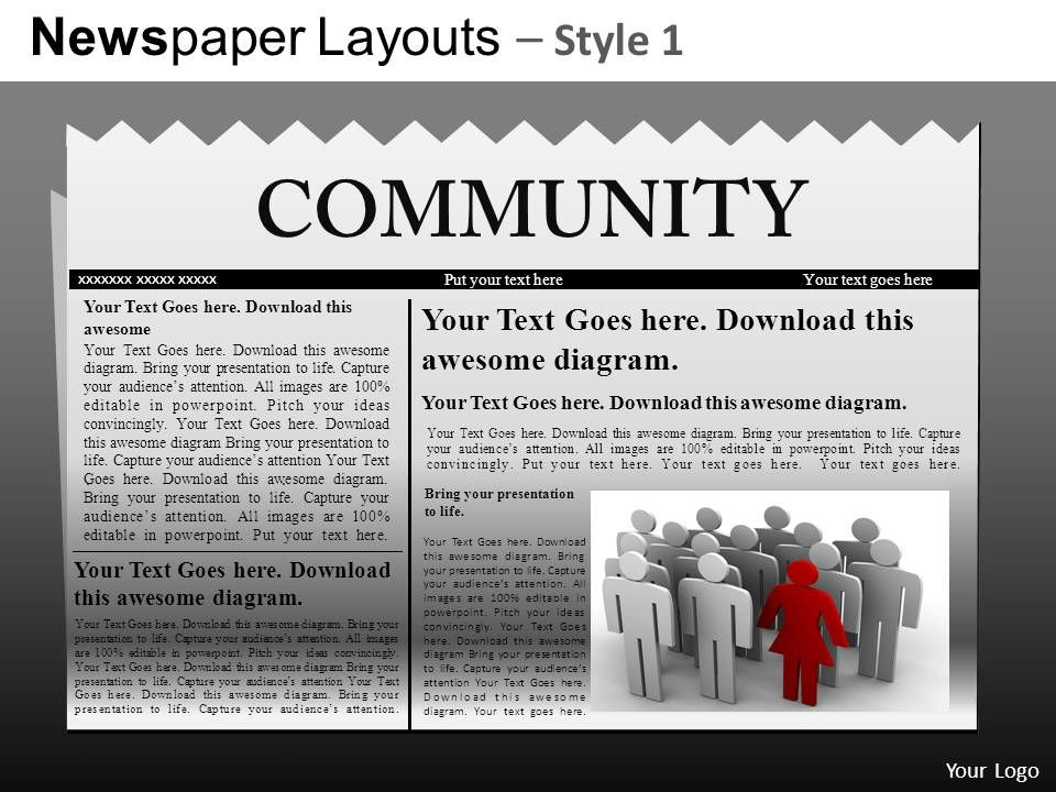 Newspaper Layouts Style  Powerpoint Presentation Slides Db