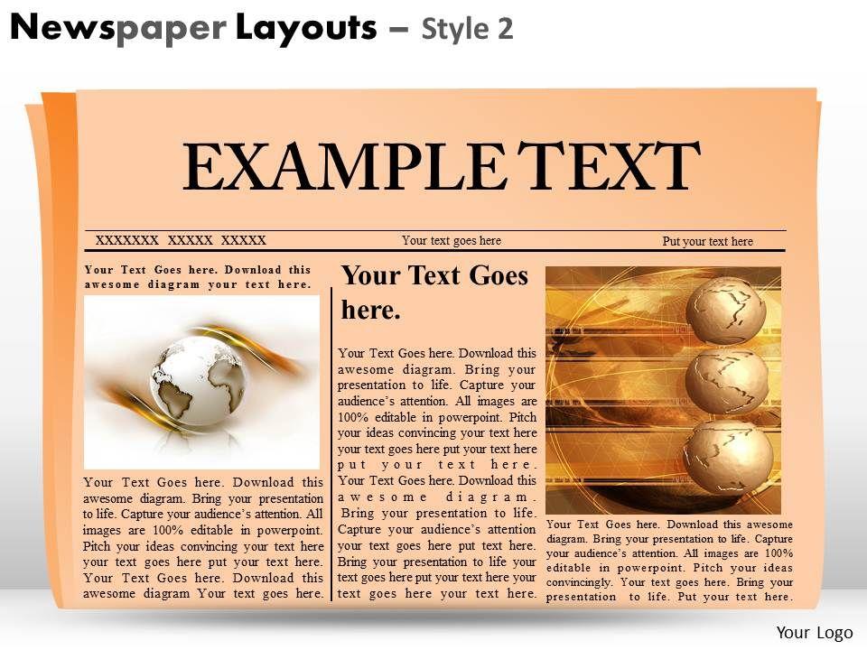 43638540 Style Variety 2 Newspaper 1 Piece Powerpoint Presentation