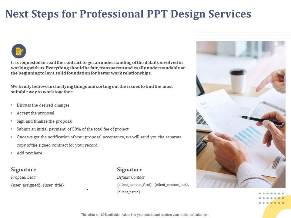 Next Steps For Professional Ppt Design Services Notification Ppt Powerpoint Presentation Ideas