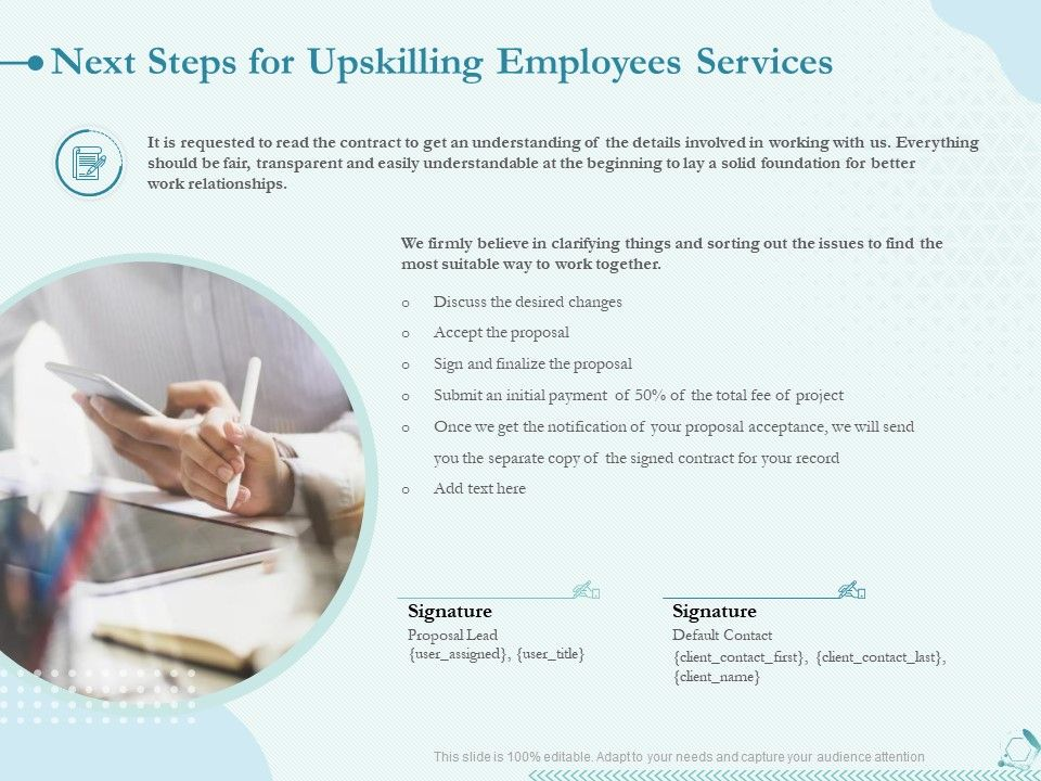 Next Steps For Upskilling Employees Services Ppt Powerpoint Presentation Summary
