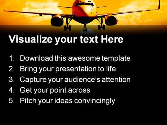 Night landing airplane transportation powerpoint templates and night landing airplane transportation powerpoint templates and powerpoint backgrounds 0311 presentation themes and graphics slide02 toneelgroepblik Images