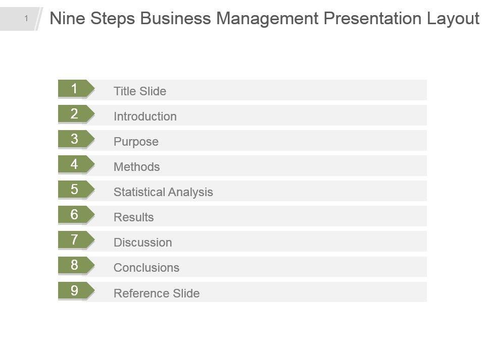 nine_steps_business_management_presentation_layout_ppt_slide_Slide01
