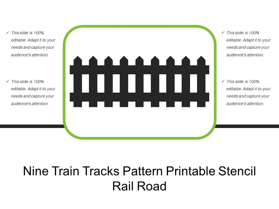graphic about Printable Train Track Templates known as 9 Educate Music Routine Printable Stencil Rail Street
