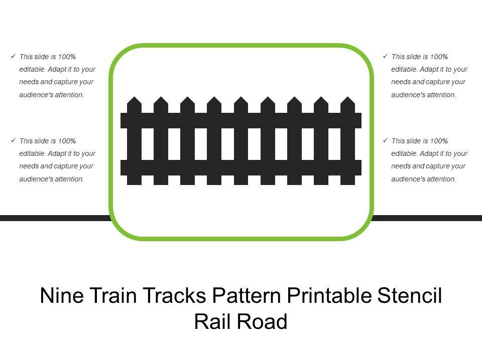 Nine Train Tracks Pattern Printable Stencil Rail Road | PowerPoint