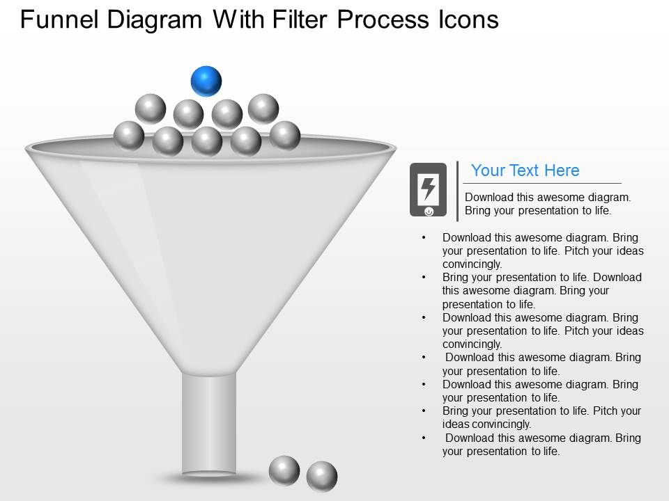 ob funnel diagram with filter process icons powerpoint. Black Bedroom Furniture Sets. Home Design Ideas