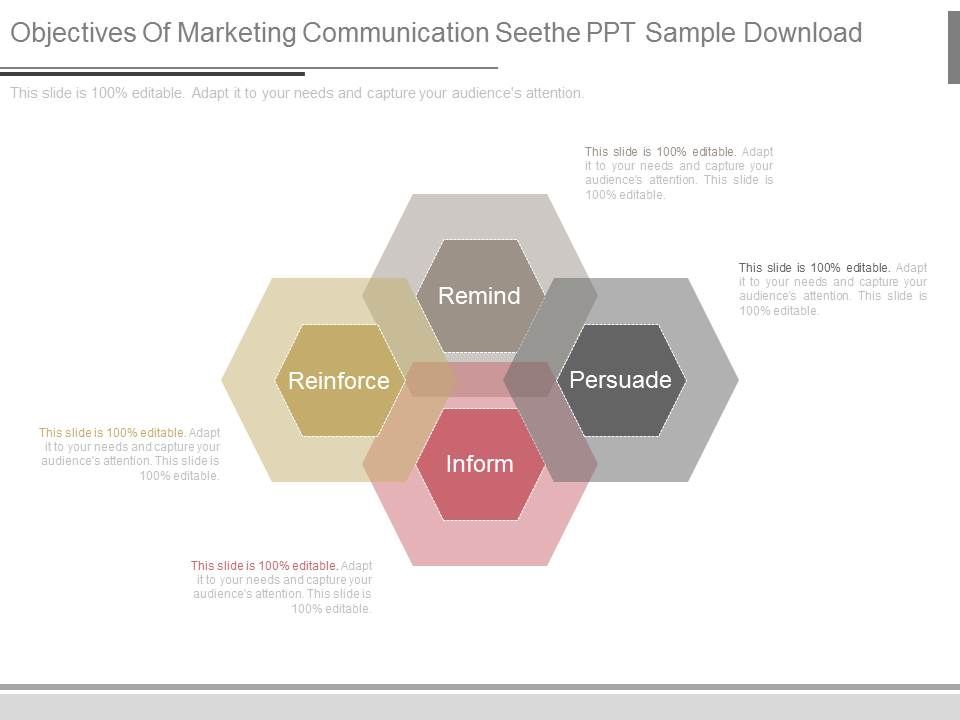 Objectives Of Marketing Communication Seethe Ppt Sample Download | Template  Presentation | Sample of PPT Presentation | Presentation Background Images
