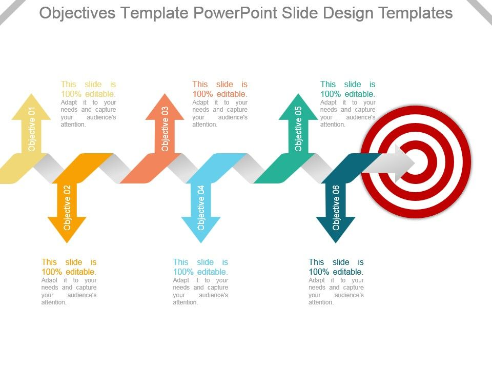 Objectives Template Powerpoint Slide Design Templates Presentation