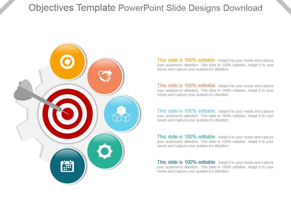 Objectives Template Powerpoint Slide Designs Download PowerPoint