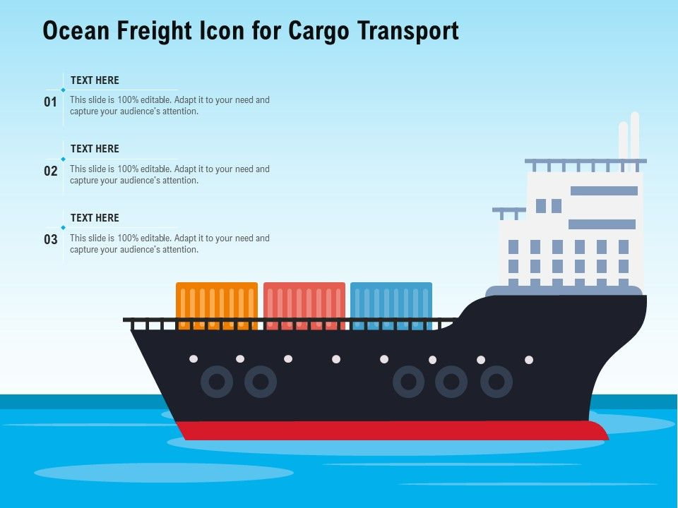 Ocean Freight Icon For Cargo Transport