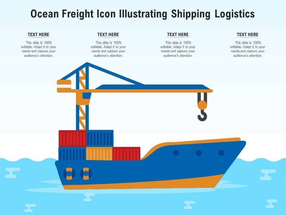 Ocean Freight Icon Illustrating Shipping Logistics