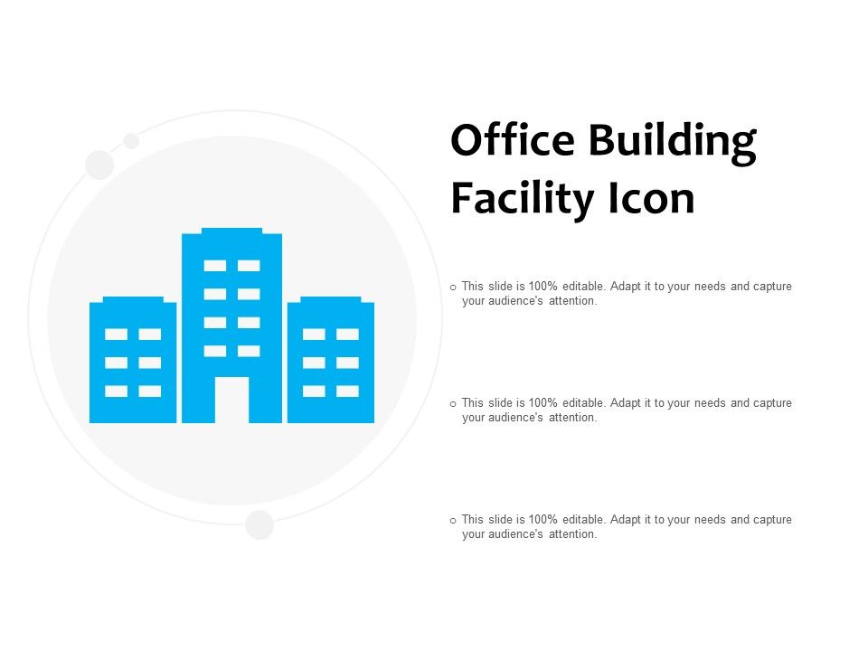Office Building Facility Icon | PowerPoint Slide Images
