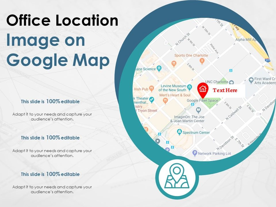 Office Location Image On Google Map Powerpoint Slide Templates Download Ppt Background Template Presentation Slides Images