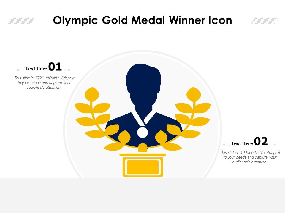 olympic gold medal winner icon powerpoint slides diagrams themes for ppt presentations graphic ideas olympic gold medal winner icon