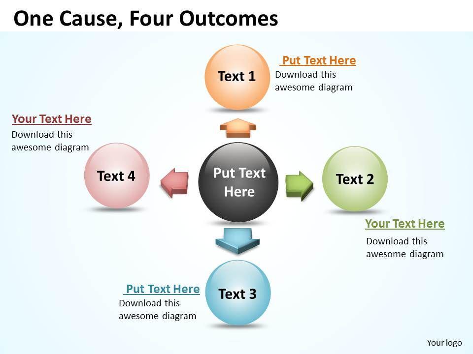 one_cause_four_outcomes_ppt_slides_presentation_diagrams_templates_Slide01