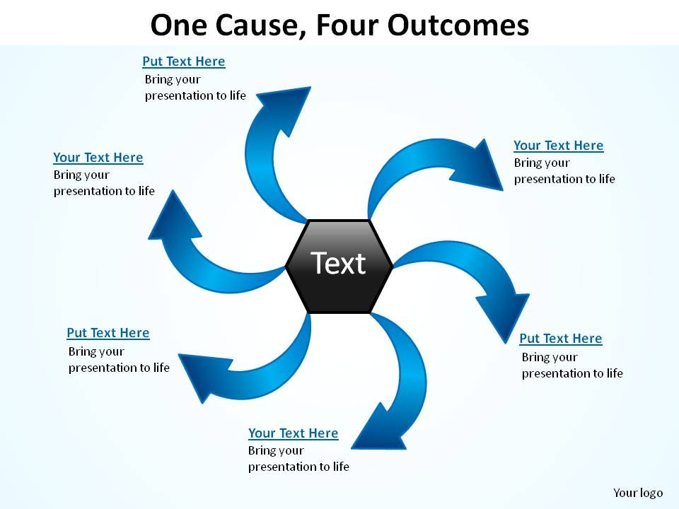 One cause four outcomes ppt slides presentation diagrams templates onecausefouroutcomespptslidespresentationdiagramstemplatespowerpointinfographicsslide01 toneelgroepblik Images