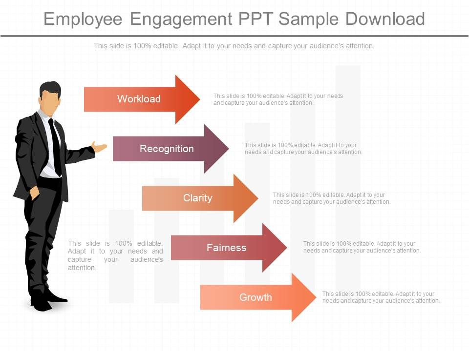 one employee engagement ppt sample download powerpoint slide