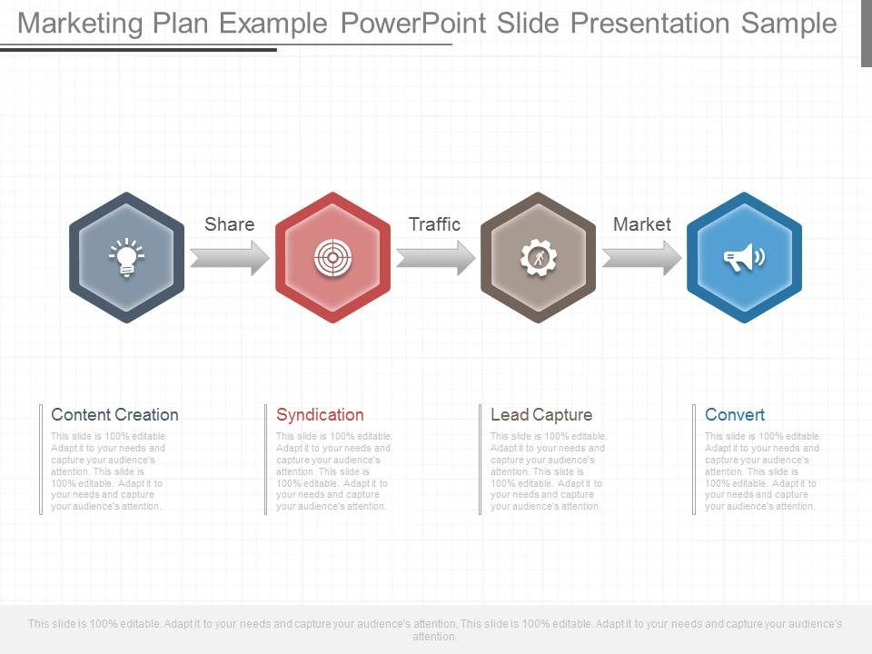 One Marketing Plan Example Powerpoint Slide Presentation