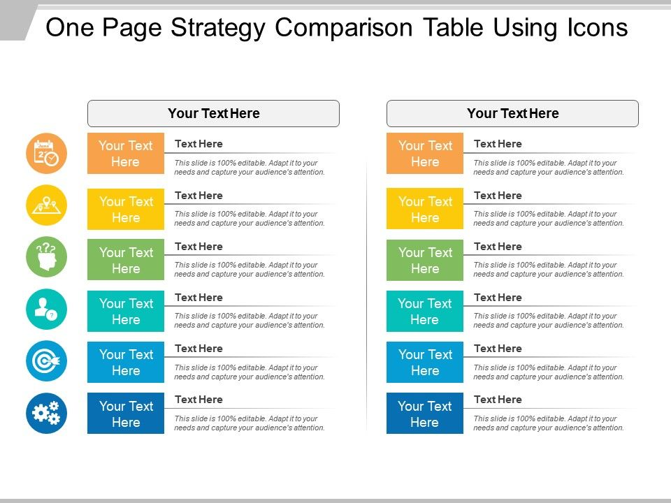 one_page_strategy_comparison_table_using_icons_Slide01