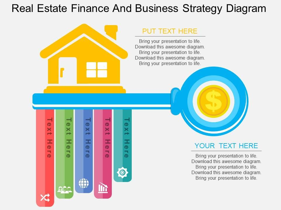 one real estate finance and business strategy diagram flat