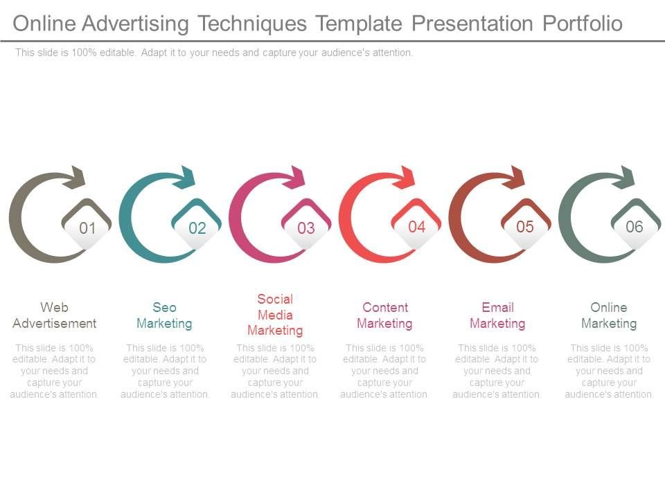 Online Advertising Techniques Template Presentation Portfolio