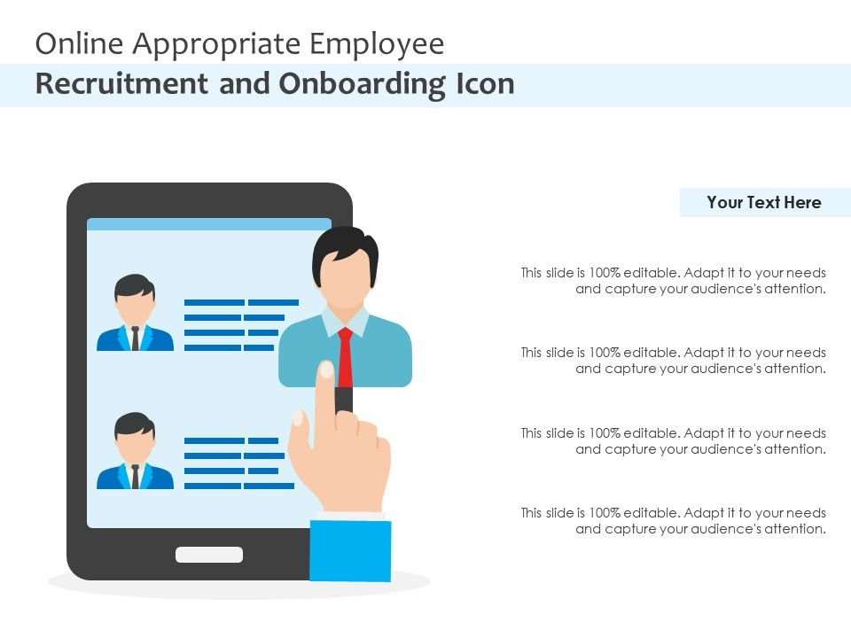 Online Appropriate Employee Recruitment And Onboarding Icon