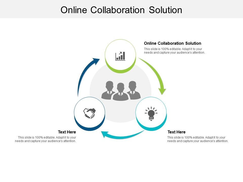 Online Collaboration Solution Ppt Powerpoint Presentation Slides Graphics Design Cpb