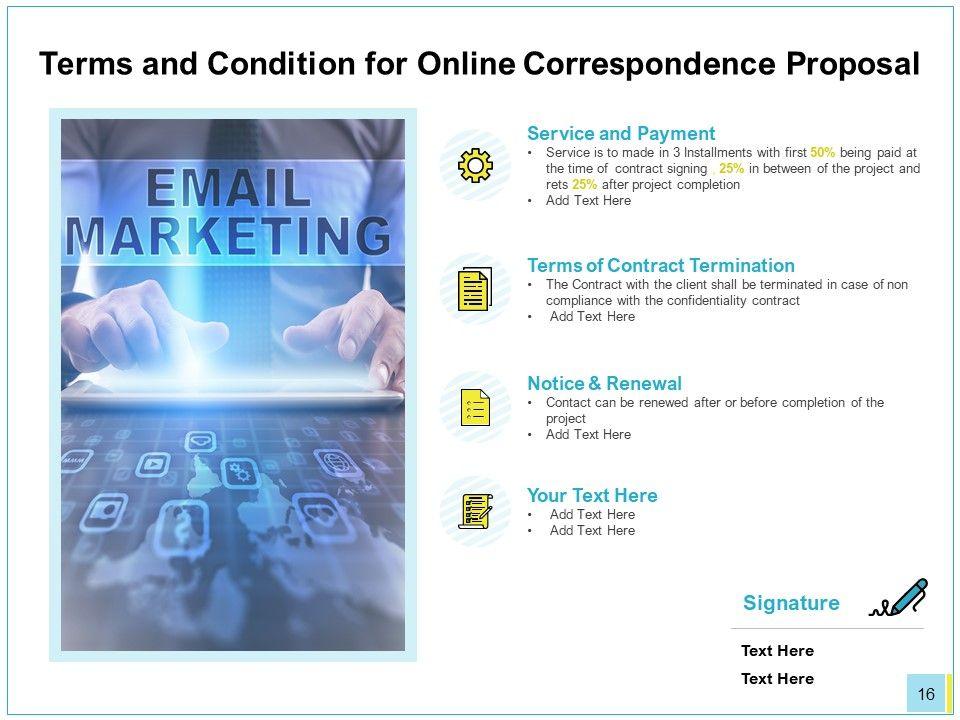 Online Correspondence Proposal Powerpoint Presentation