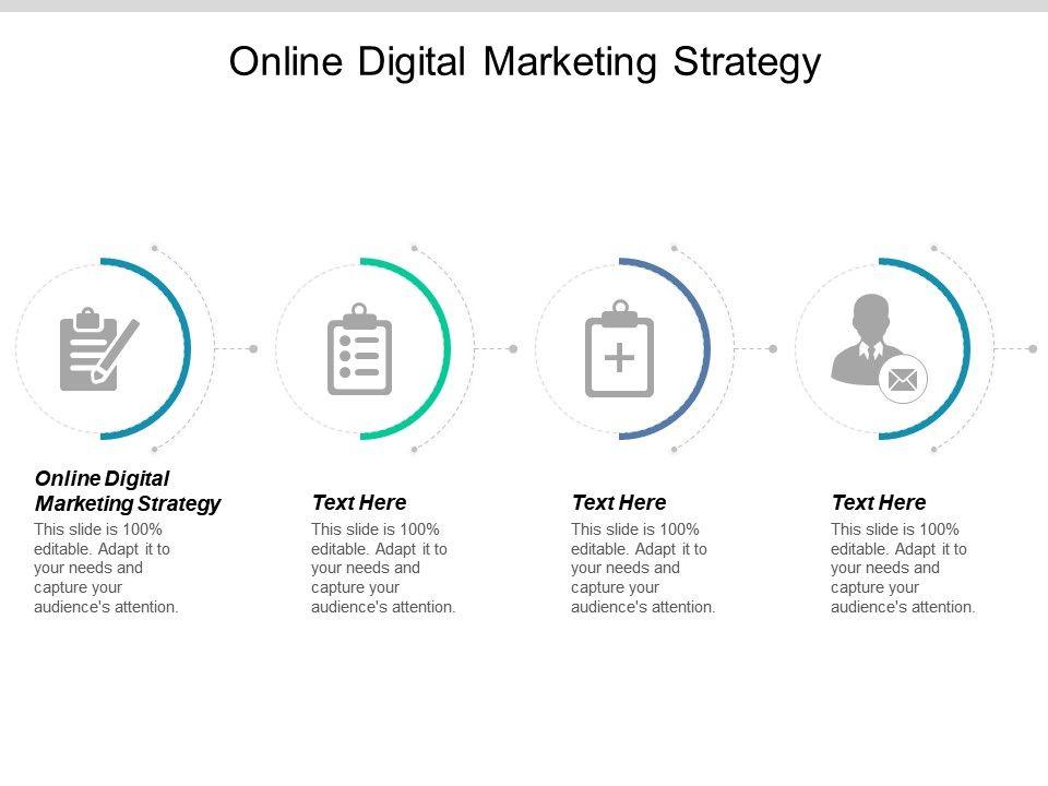 Online Digital Marketing Strategy Ppt Powerpoint Presentation Show
