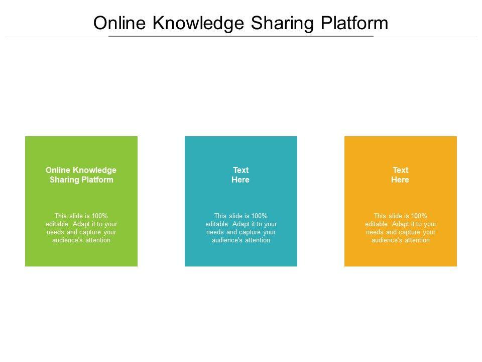 Online Knowledge Sharing Platform Ppt Powerpoint Presentation Layouts Deck Cpb