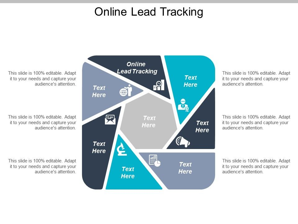Online Lead Tracking Ppt Powerpoint Presentation Ideas Guidelines Cpb