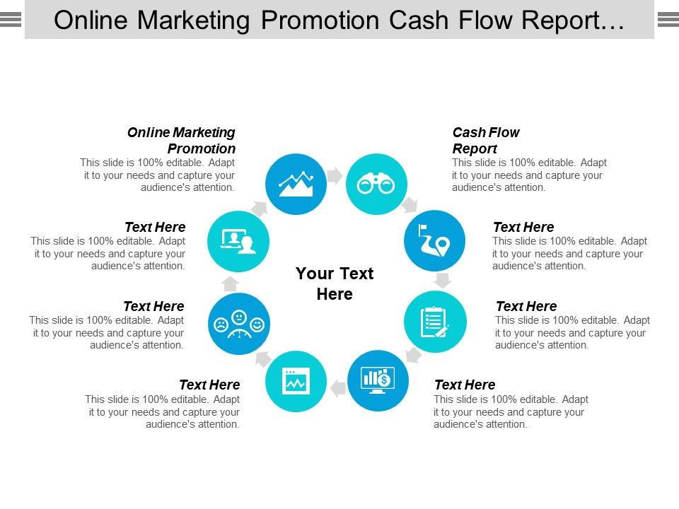 Online Marketing Promotion Cash Flow Report Compeive Intelligence Reports Cpb Slide01