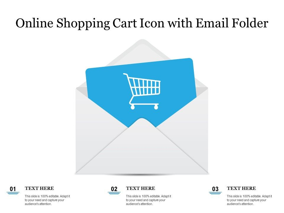 Online Shopping Cart Icon With Email Folder