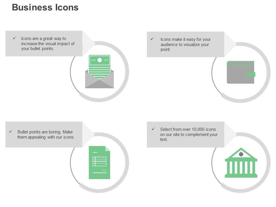 Open Mail Wallet Bill Bank Ppt Icons Graphics | PowerPoint Templates