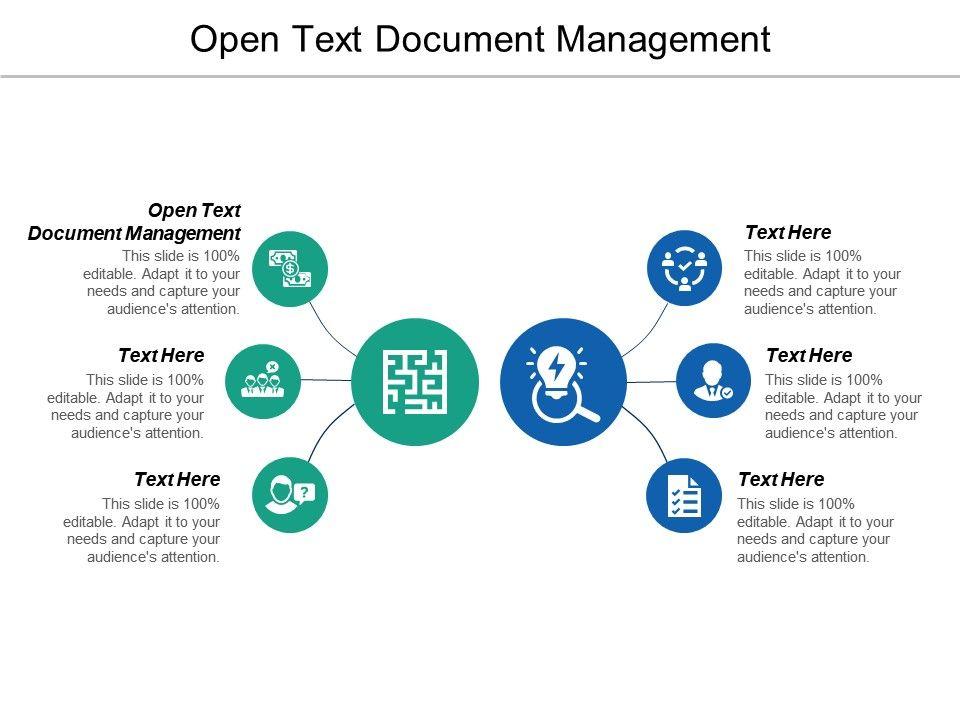 Open Text Document Management Ppt Powerpoint Presentation