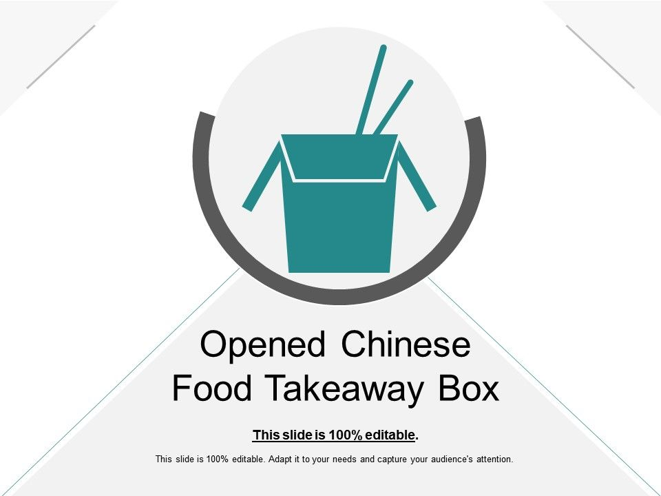 Opened Chinese Food Takeaway Box | PowerPoint Design Template ...
