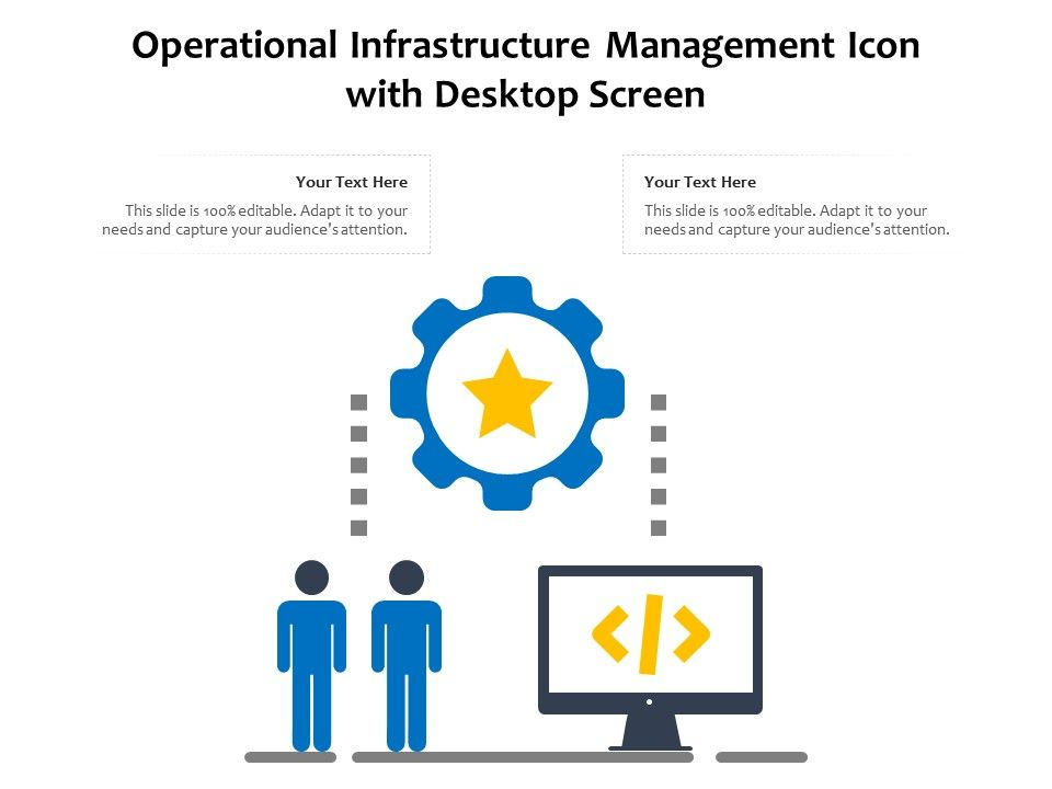 Operational Infrastructure Management Icon With Desktop Screen
