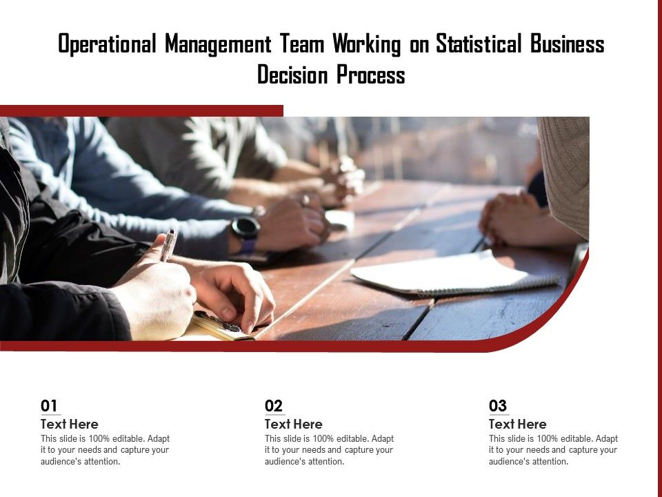 Operational Management Team Working On Statistical Business Decision Process