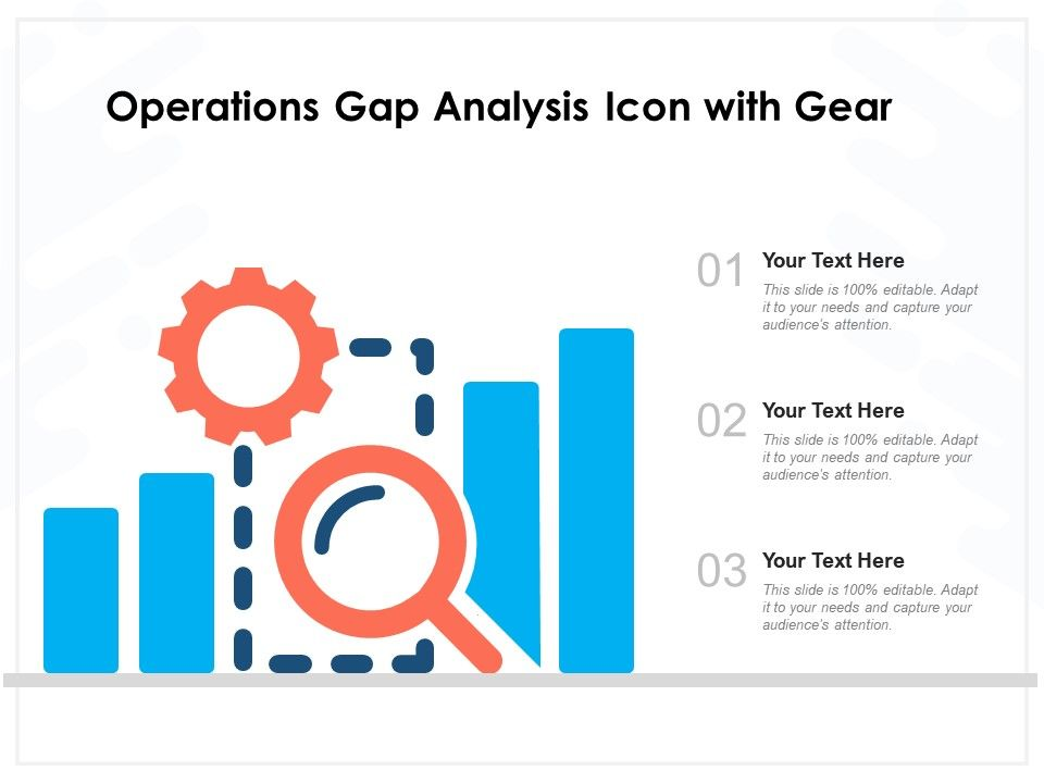 Operations Gap Analysis Icon With Gear