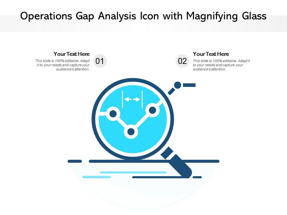 Operations Gap Analysis Icon With Magnifying Glass