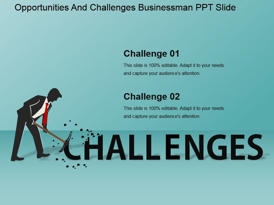 Opportunities And Challenges Businessman Ppt Slide ...