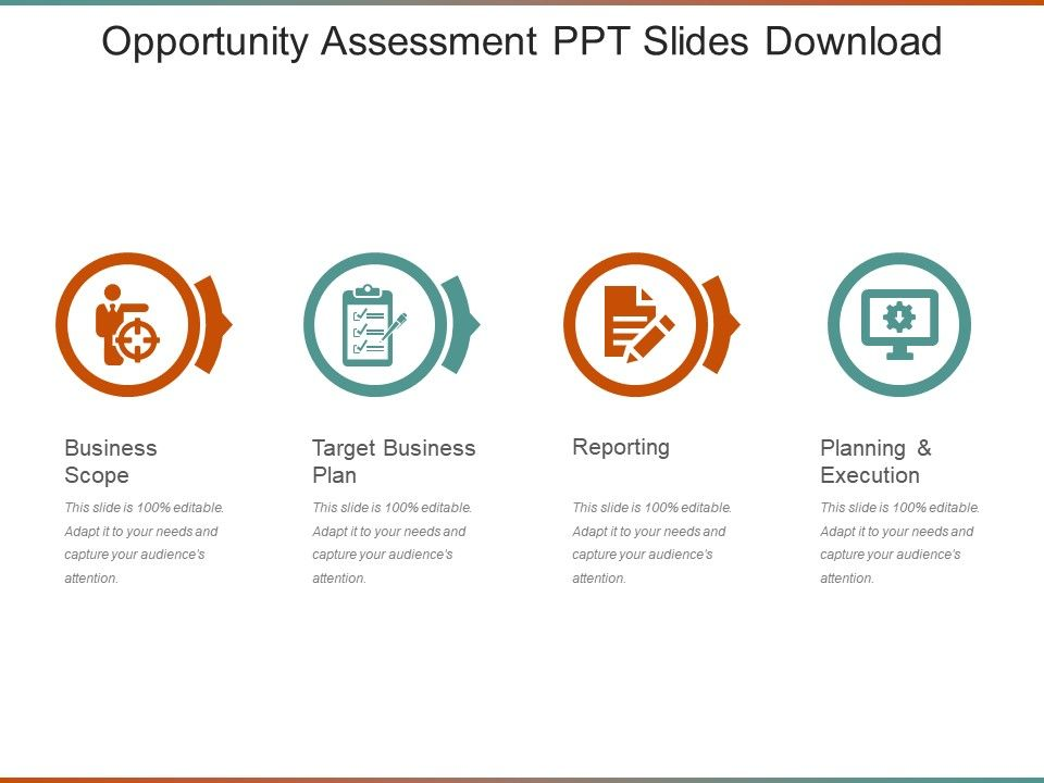 opportunity assessment ppt slides download powerpoint slides