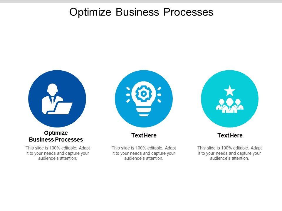 Optimize Business Processes Ppt Powerpoint Presentation