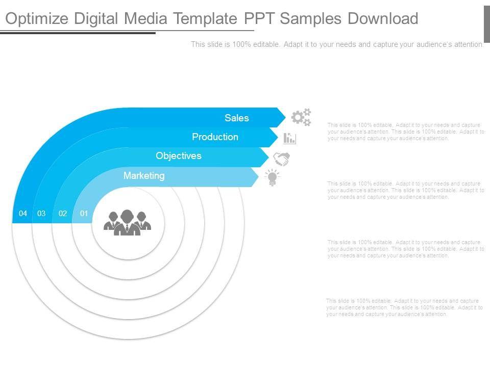 optimize digital media template ppt samples download | powerpoint, Presentation templates