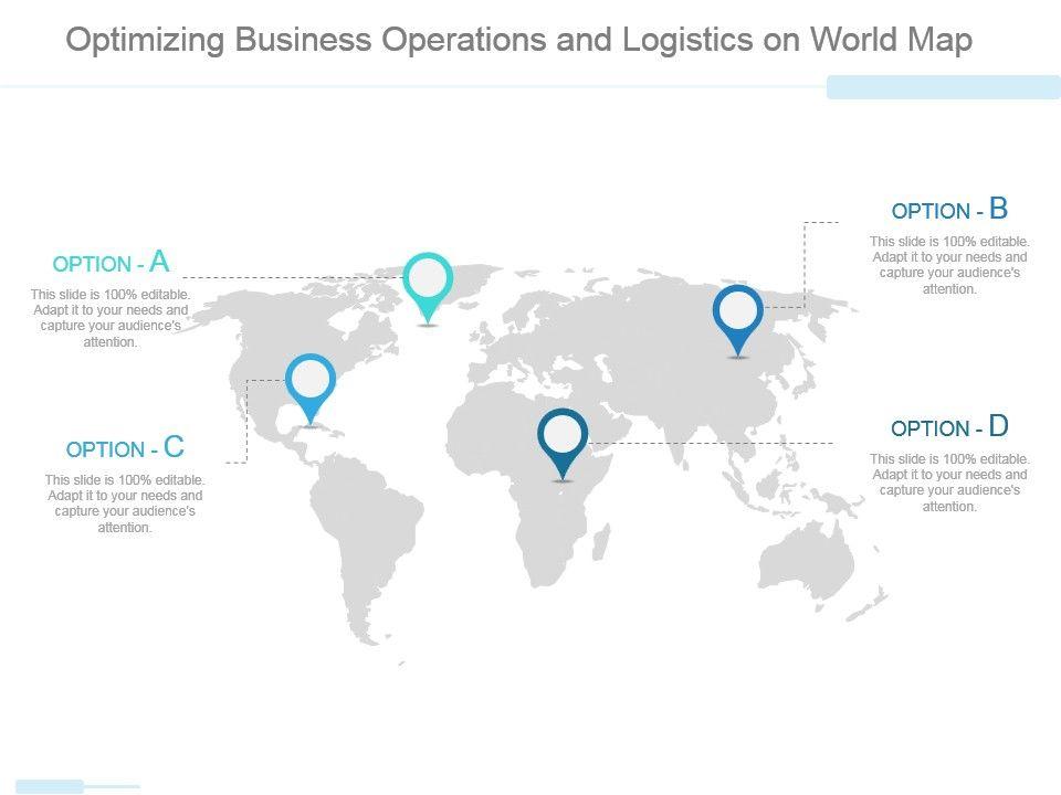 Optimizing Business Operations And Logistics On World Map
