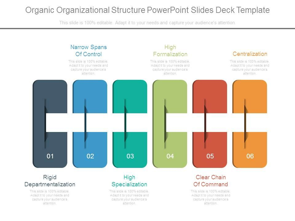 Organic Organizational Structure Powerpoint Slides Deck Template ...