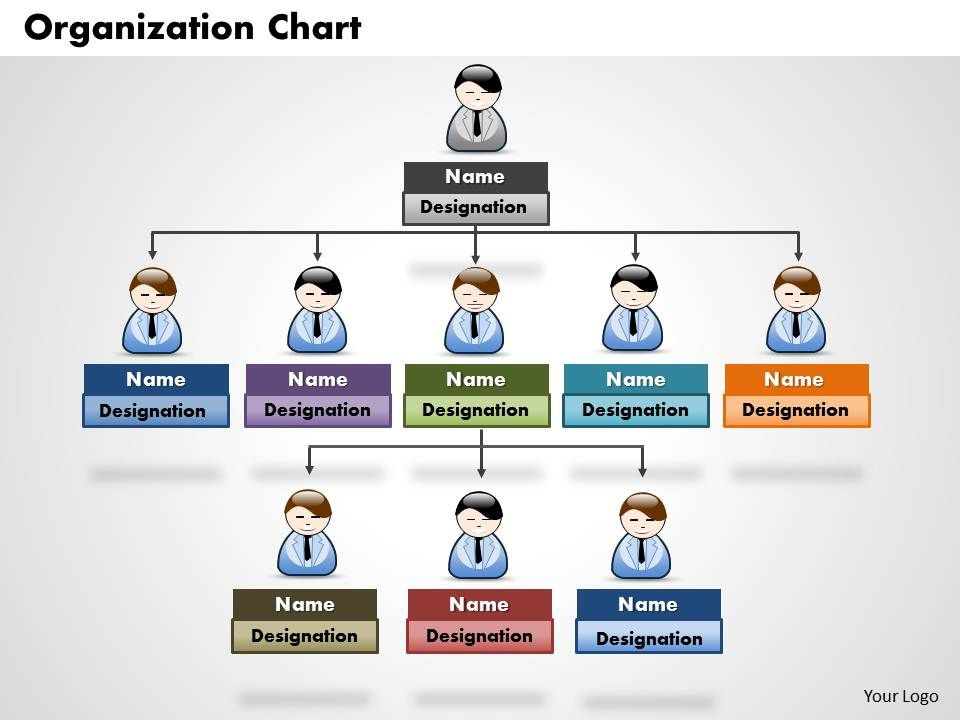 Organization chart powerpoint presentation slide template for Power point org chart template