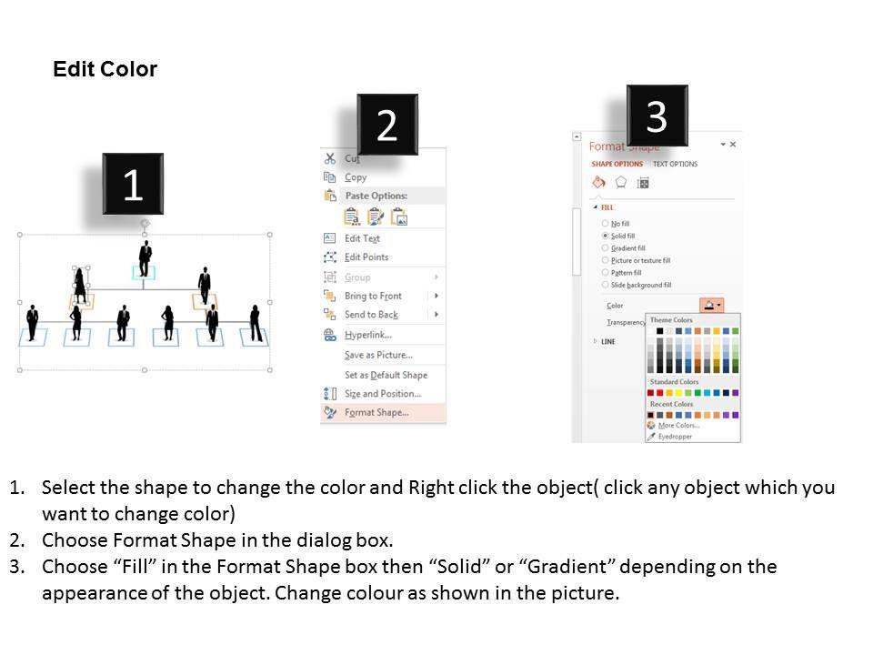 Organizational Chart For Business Peoples Flat Point Design Slide04 Slide01