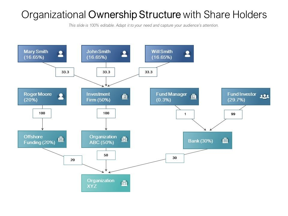 Organizational Ownership Structure With Share Holders